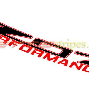 C7 Corvette Z06 Z07 performance windshield letter decals