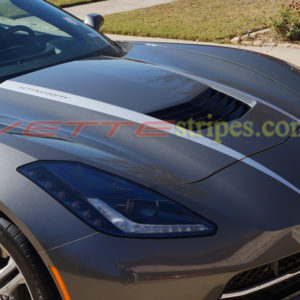Shark gray C7 stingray will blade silver hood stripe 2 and optional Stingray cutout