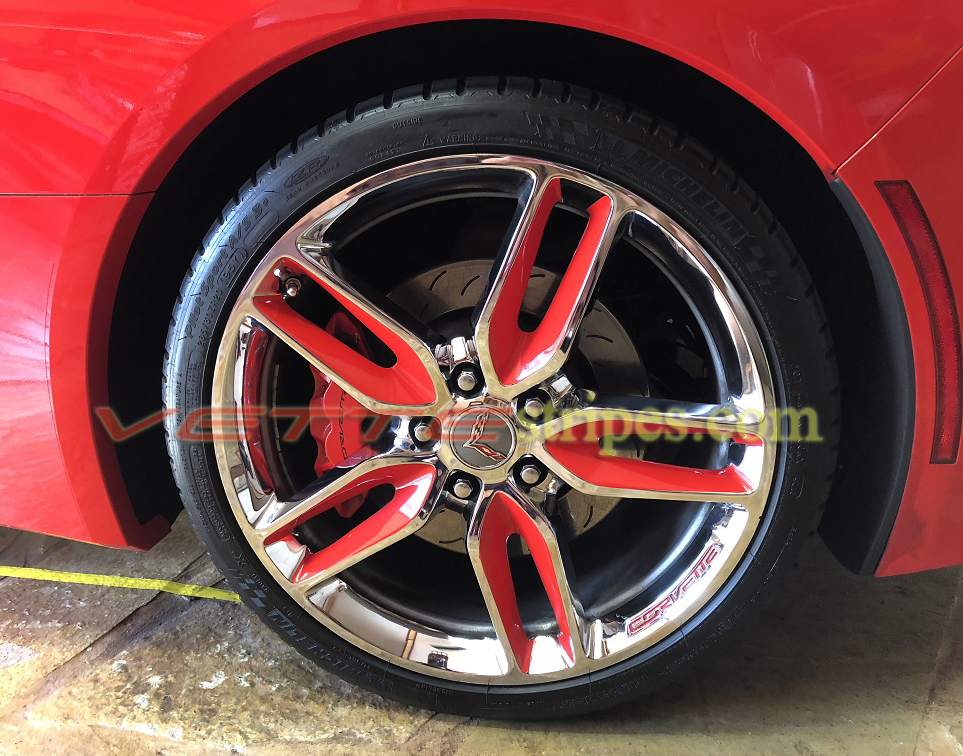 C7 Corvette Stingray Z51 Wheel Graphic Decals Set Of 4 Wheels