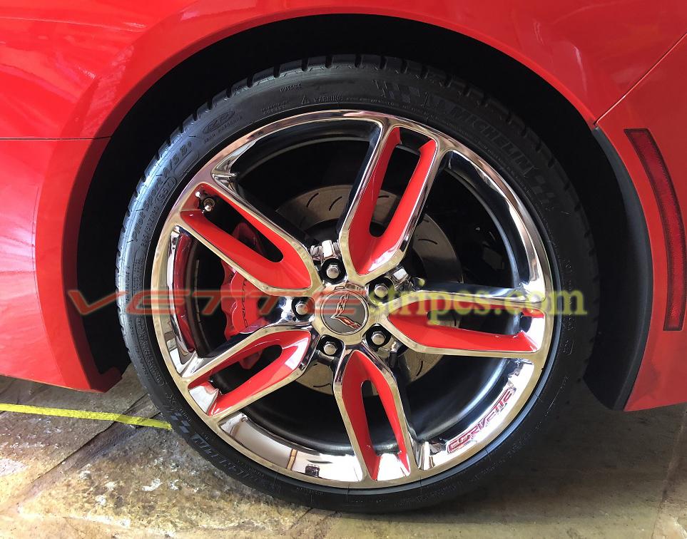 C7 Corvette Stingray Z51 Wheel Graphic Decals Set Of 4
