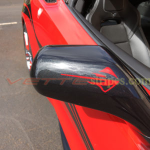 C7 Stingray logo side mirror in torch red