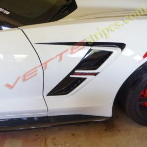 C7 corvette grand sport side spear in 3M 1080 carbon flash
