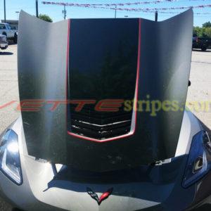 Shark gray C7 Corvette Stingray with red GT2 stinger pinstripe (1)