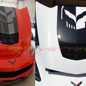 C7 Corvette jake skull stinger hood stripe decal