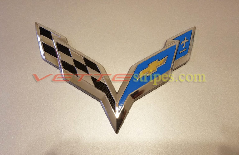C7 Corvette Emblem Overlay In Gloss Tension Blue